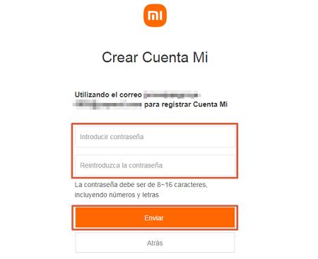 Cómo crear una cuenta Mi Xiaomi desde el ordenador paso 4