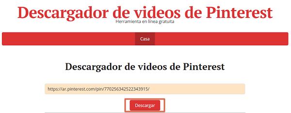 Cómo descargar un video de Pinterest fácil y rápido. Desde la PC con PinterstVideoDownloader. Paso 4