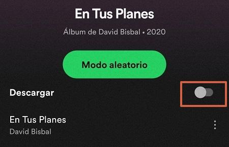 Cómo descargar una canción o playlist en Spotify paso 1
