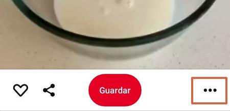 Cómo descargar vídeos de Pinterest en dispositivo móvil paso 2