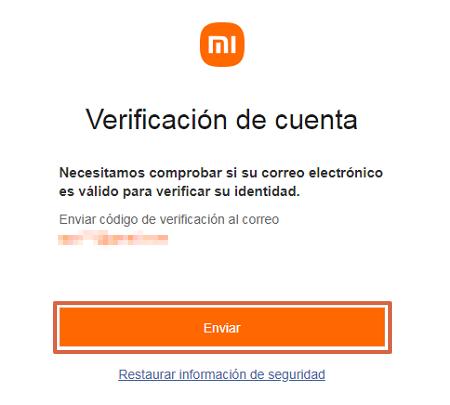 Cómo ingresar un número de recuperación para la cuenta Mi Xiaomi desde el ordenador paso 3