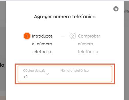 Cómo ingresar un número de recuperación para la cuenta Mi Xiaomi desde el ordenador paso 5