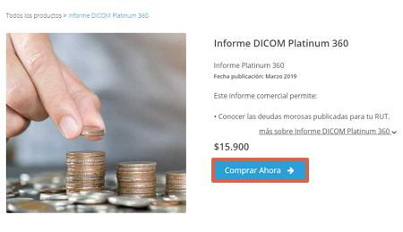 Cómo obtener tu informe Dicom Platinum 360 desde el portal de Equifax paso 3