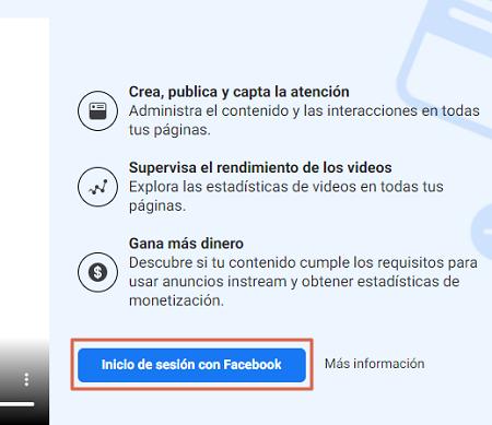 Cómo programar y subir una publicación con Facebook Creator Studio paso 1