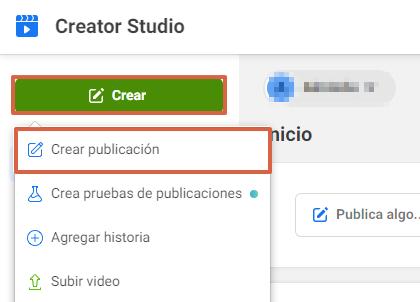 Cómo programar y subir una publicación con Facebook Creator Studio paso 3