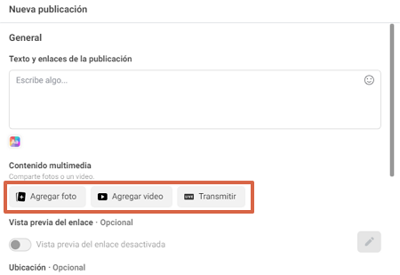 Cómo programar y subir una publicación con Facebook Creator Studio paso 4