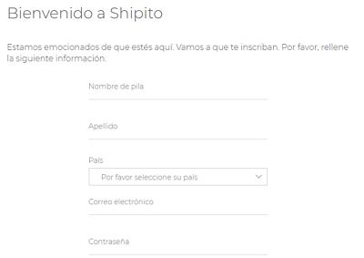 Cómo registrarse en Shipito para comprar en Walmart USA desde cualquier país paso 3