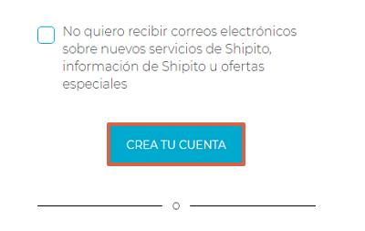 Cómo registrarse en Shipito para comprar en Walmart USA desde cualquier país paso 4