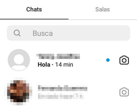 Cómo responder o reaccionar a un mensaje específico en Instagram desde la aplicación. Paso 2