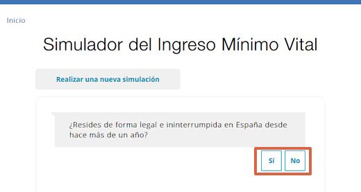 Cómo usar el simulador de Ingreso Mínimo Vital paso 2