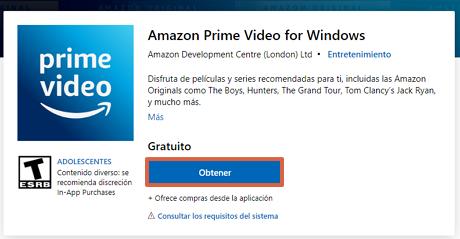 Cómo ver o mirar Amazon Prime desde la PC en Windows 10 paso 1