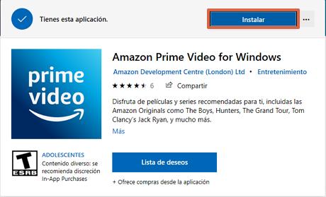 Cómo ver o mirar Amazon Prime desde la PC en Windows 10 paso 2