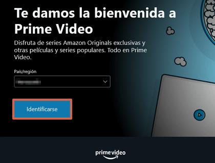 Cómo ver o mirar Amazon Prime desde la PC en Windows 10 paso 3