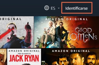 Cómo ver o mirar Amazon Prime desde la PC paso 1
