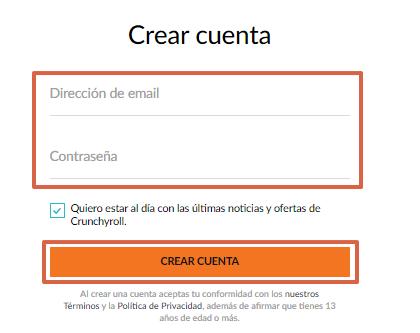 Cómo ver y tener Crunchyroll Premium gratis paso 3