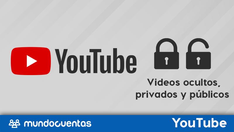 Diferencias entre videos ocultos, privados y públicos en YouTube