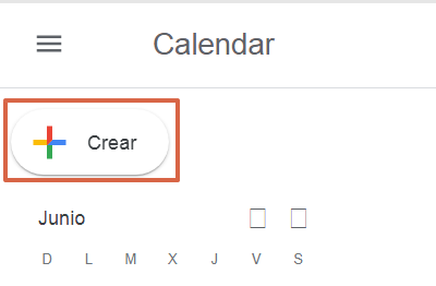 Programar una reunión de Google Meet en Google Calendar desde PC paso 2
