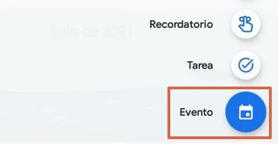 Programar una reunión de Google Meet en Google Calendar desde el móvil paso 3