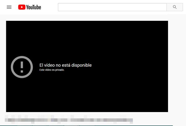 Vídeos privados de YouTube