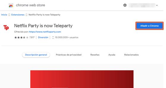 Cómo crear un usuario en Teleparty paso 1