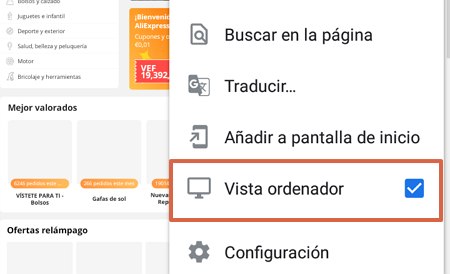Cómo desactivar cuenta en Aliexpress desde el móvil paso 3