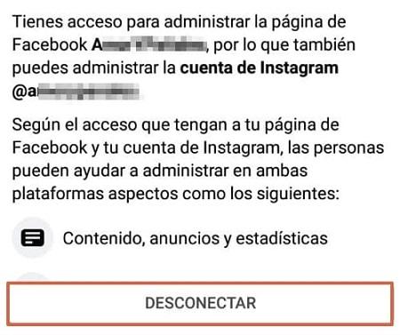 Cómo desvincular la cuenta de Instagram de Facebook