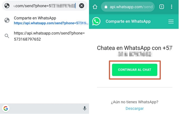 Cómo enviar mensajes de WhatsApp sin agendar el contacto usando el enlace api.whatsapp