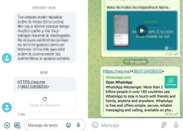 Cómo enviar mensajes de WhatsApp sin agendar el contacto usando el enlace wa.me