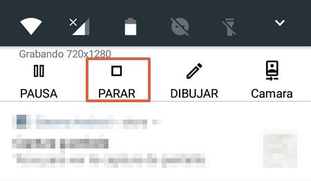Cómo grabar videollamadas en WhatsApp usando Screen Recordator paso 5