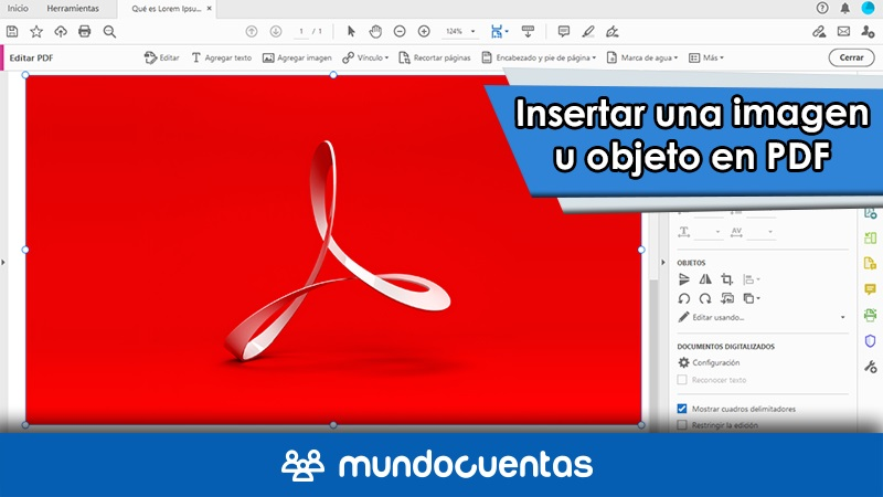 Cómo insertar una imágen o colocar un objeto en pdf guía completa para editar en Acrobat Reader