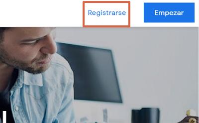 Cómo registrarse en Google AdSense paso 1
