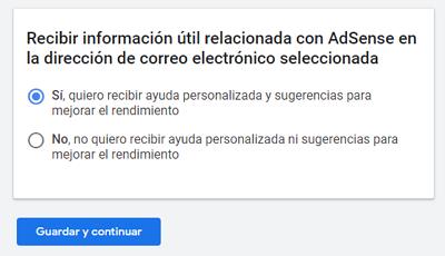 Cómo registrarse en Google AdSense paso 4