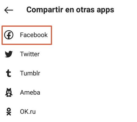 Cómo vincular la cuenta de Instagram con Facebook desde su propia plataforma paso 6