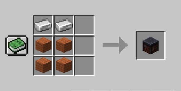 Receta para fabricar una mesa de herrería en Minecraft