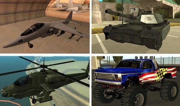 Truco para vehículos de GTA San Andreas