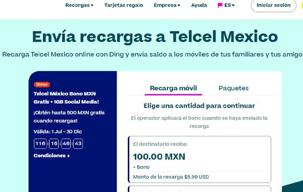 Cómo recargar saldo Telcel paquetes, amigos y sin límite desde Estados Unidos