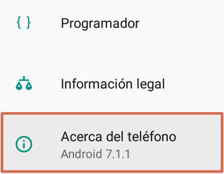 Cómo saber mi número Telcel a través de la configuración del móvil paso 1