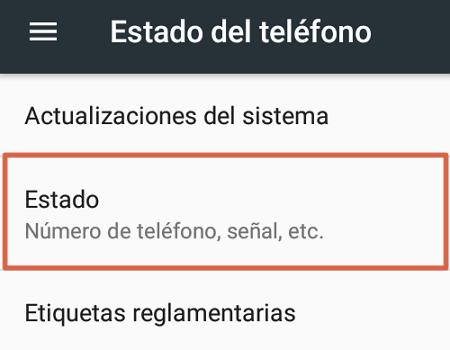 Cómo saber mi número Telcel a través de la configuración del móvil paso 2