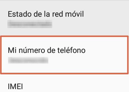 Cómo saber mi número Telcel a través de la configuración del móvil paso 4
