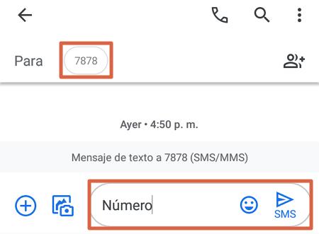 Cómo saber mi número Telcel enviando un mensaje sin costo paso 1