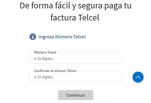Pagar Telcel en línea desde la página oficial