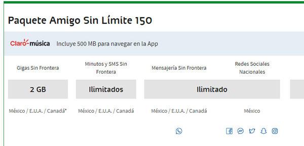 Paquetes Amigo Sin Límite de Telcel disponibles