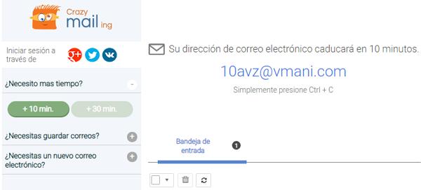 Alternativas de Gmailnator Crazy mailing