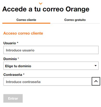 Cómo acceder al correo Orange