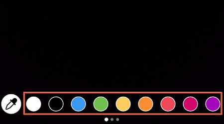 Cómo cambiar el fondo de las historias en Instagram coloreando con los pinceles paso 5