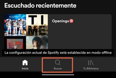 Cómo escanear códigos en Spotify Paso 1