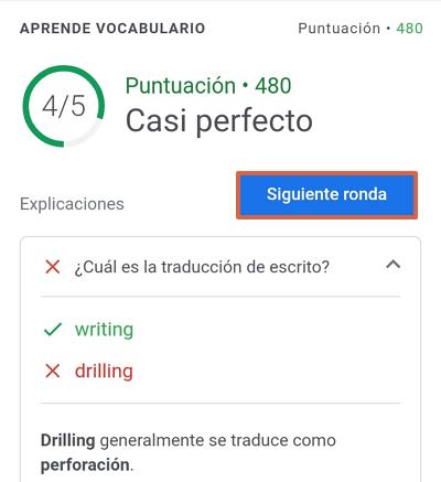 Cómo jugar en Google Word Coach Paso 4