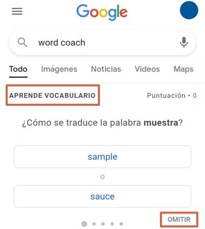Cómo jugar en Google Word Coach. Paso 2
