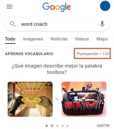 Cómo jugar en Google Word Coach. Paso 3