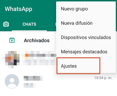 Crear copia de seguridad para reinstalar WhatsApp sin perder los chats paso 1